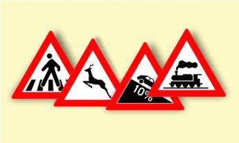 Indicatoare rutiere de avertizare