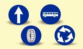 Indicatoare rutiere de obligare